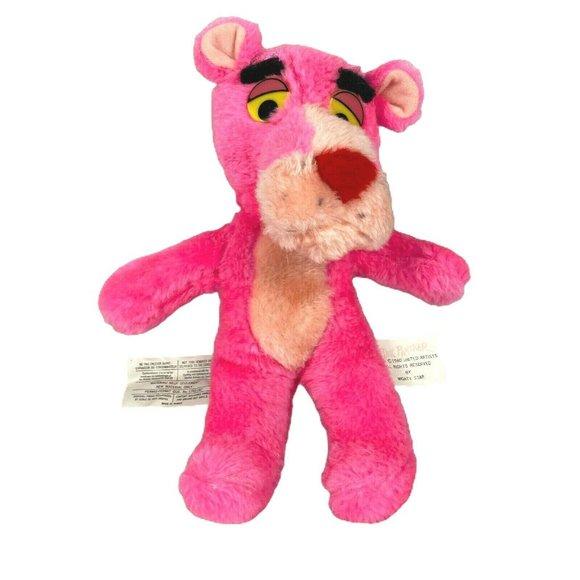 Pink Panther toy plush Vintage 1980s Pink Panther Golfer
